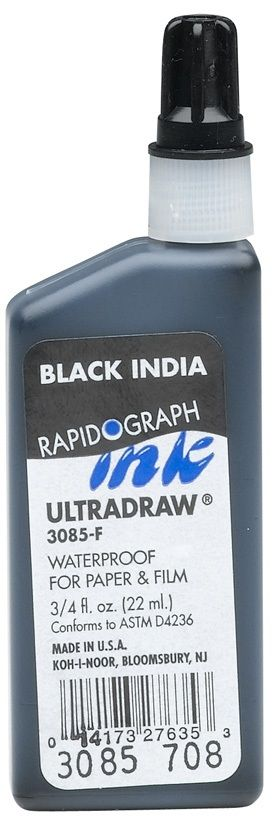 Black Ultradraw Ink 8 Oz