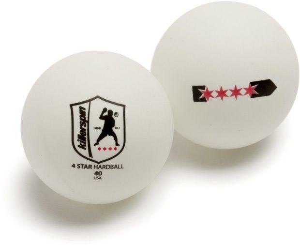 Killerspin 4 Star Balls: White, Pack of 72