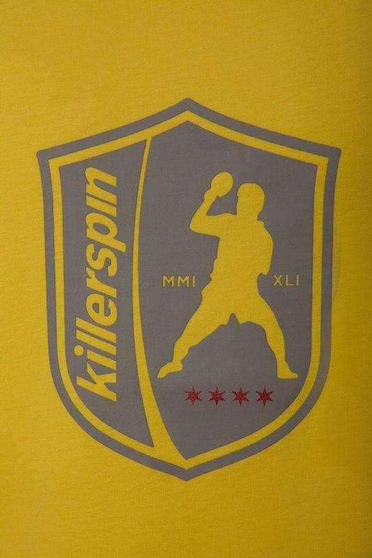 Killerspin The Steel Shield Shirt: Yellow/Grey, Medium