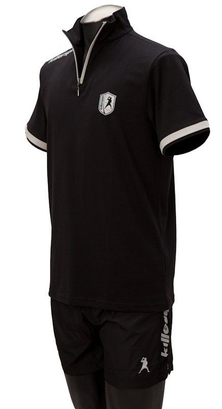 Killerspin Collar Boy Shirt: Black/Grey, Large