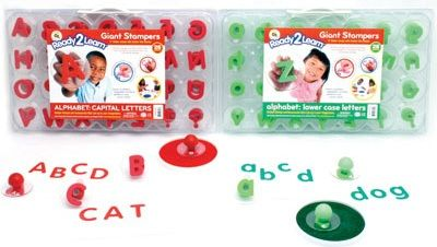 Ready 2 Learn Giant Stampers - Uppercase And Lowercase Letters - Set Of 56