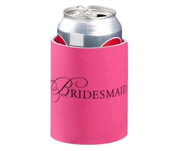 Pink Bridesmaid Can Cozy