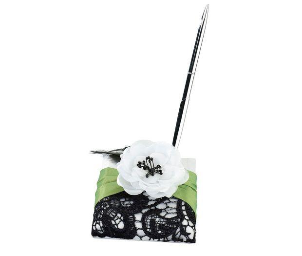 Green & Black Lace Pen Set