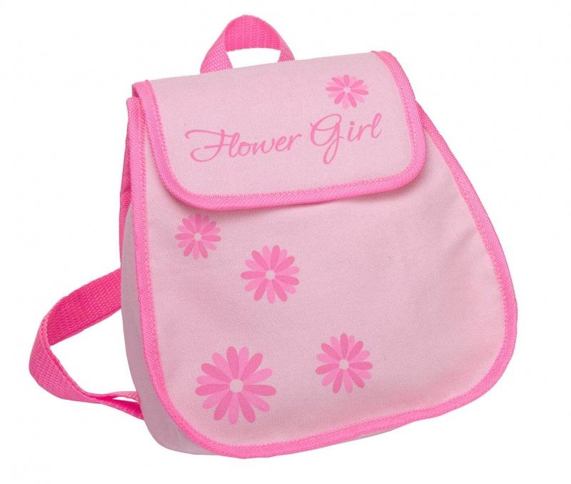 Pink Flower Girl Backpack