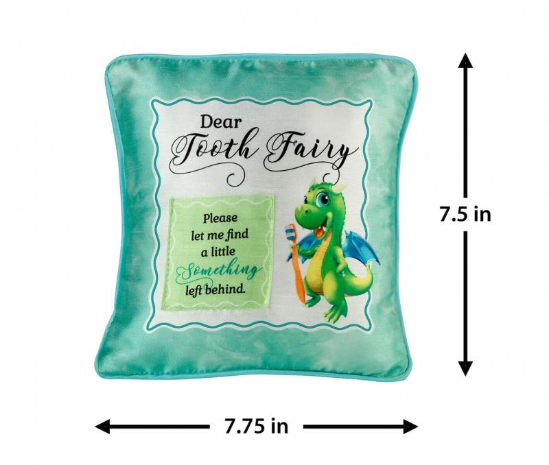 Green Dragon Tooth Fairy Pillow