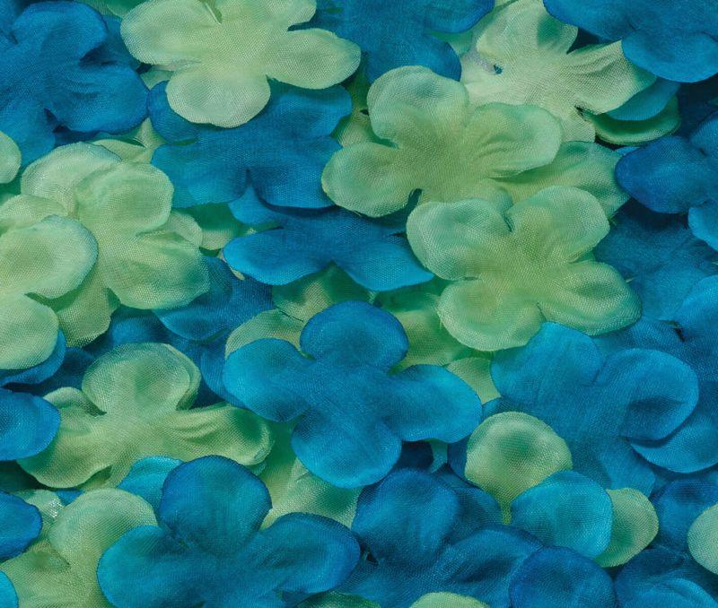Blue & Green Flower Petals