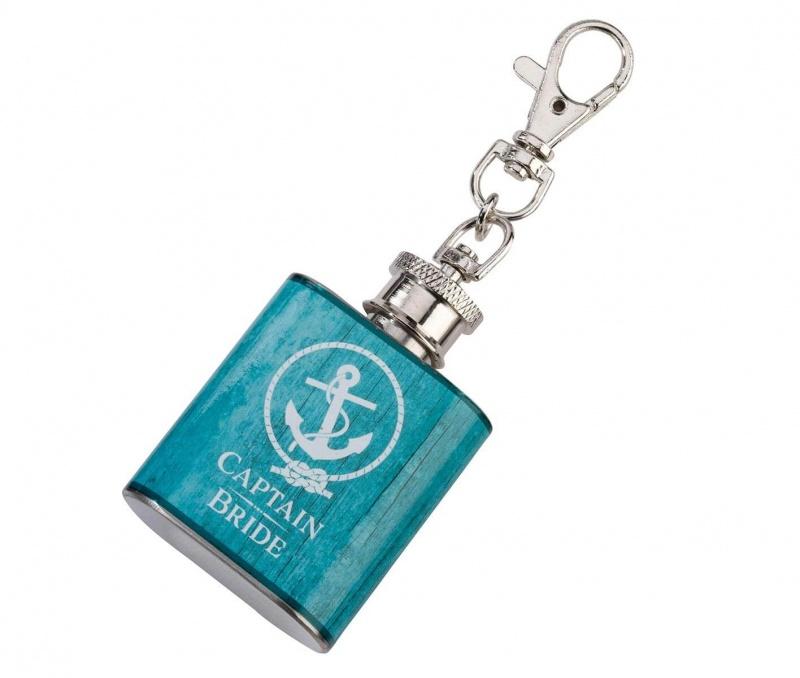 Captain Bride Aqua Mini Flask