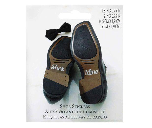 She's Mine Wedding Shoe Stickers