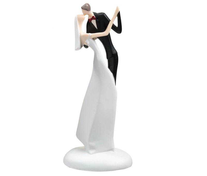 Bride & Groom Kissing Figurine Cake Topper