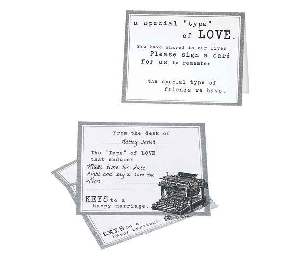Vintage Typewriter 48 Guest Signing Cards