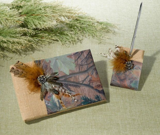 Camouflage Guest Book & Pen Set