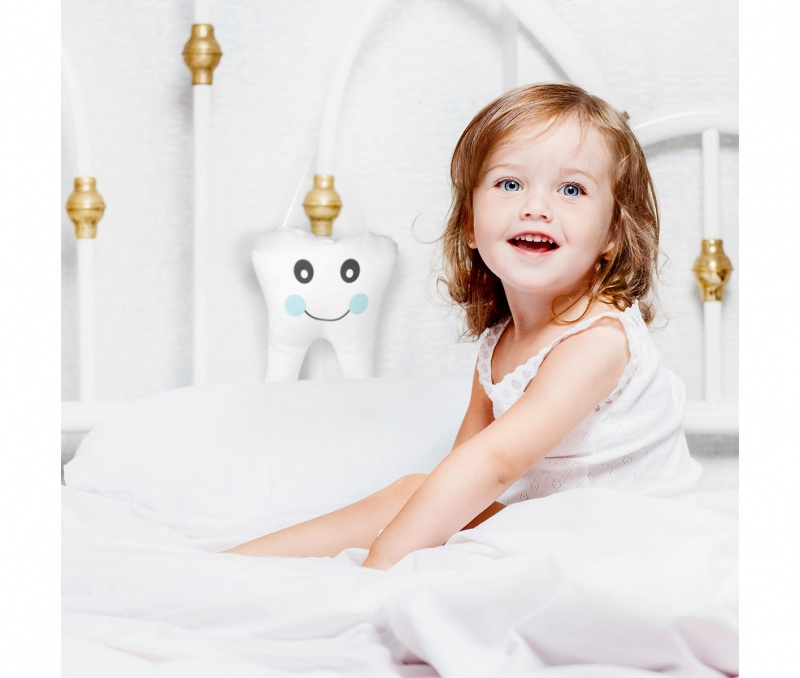 Blue Tooth Fairy Hanging Pillow