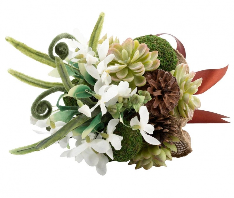 Woodland Succulent And Moss Bouquet