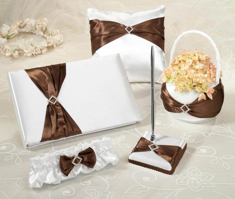 Brown Satin Wedding Set