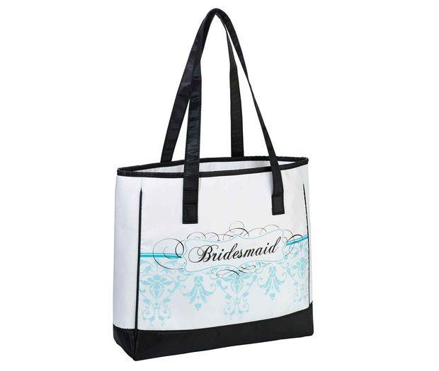 Aqua Bridesmaid Tote Bag
