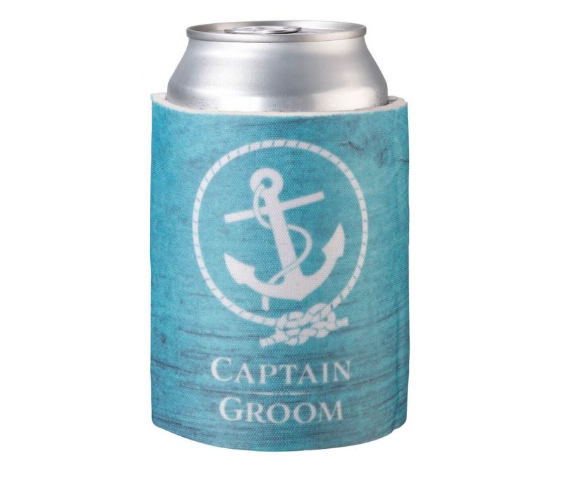 Coastal Captain Groom Can Cozy