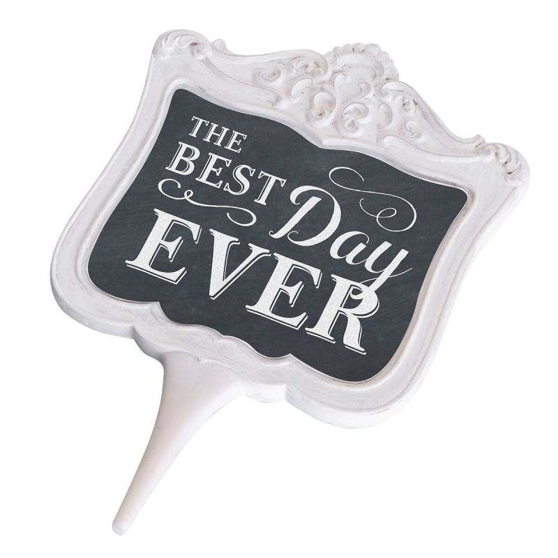 Chalkboard Best Day Ever Cake Topper