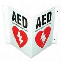 Defibtech Aed Wall Sign (3-Way)