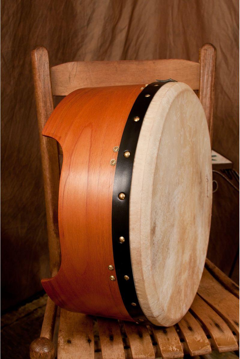 Roosebeck Tunable Red Cedar Bodhran Single-Bar 16-By-7-Inch