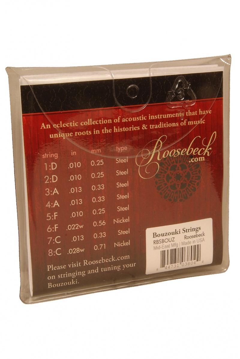 Roosebeck Bouzouki String Set 8 Steel Strings