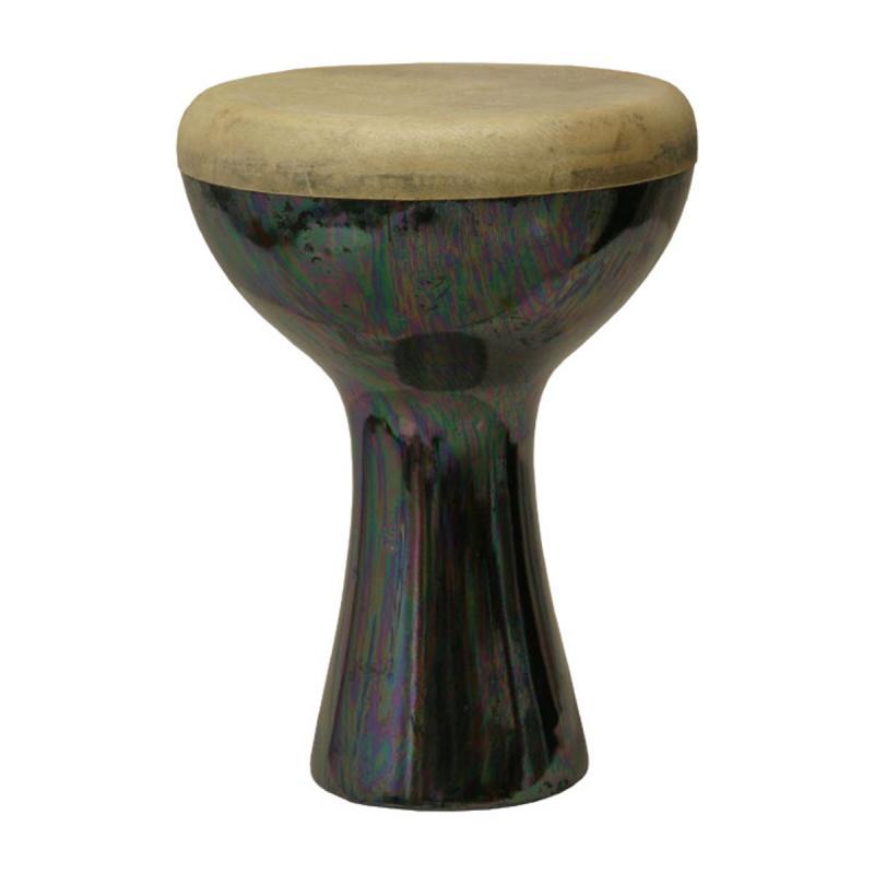 "Mid-east Ceramic Pretuned Doumbek 5""x8"" - Black"