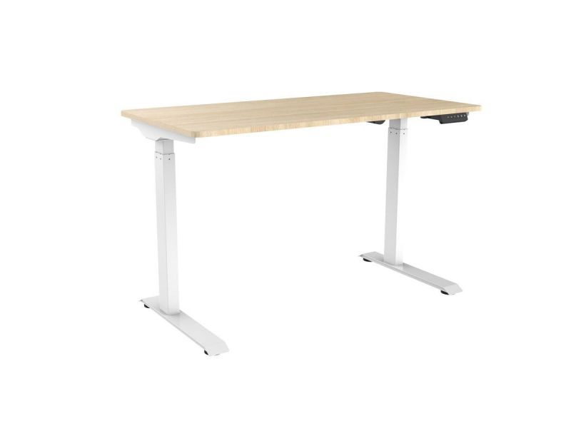 Workstream By Monoprice Wfh Single Motor Sit-stand Desk With Top, White