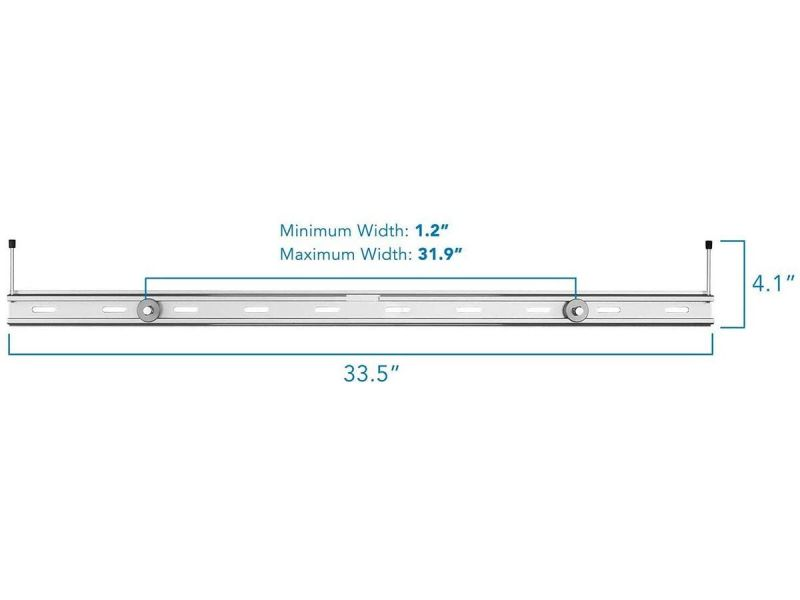Monoprice Universal Soundbar Wall Mount Bracket Aluminum Mount For Mounting Sound Bar Above Or Under Tv Fits Most Of Sound Bars Up To 33 Lbs