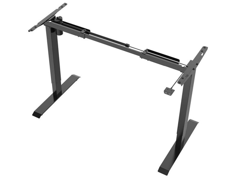 Workstream By Monoprice Single Motor Back To Basics Electric Sit-Stand Desk, Black