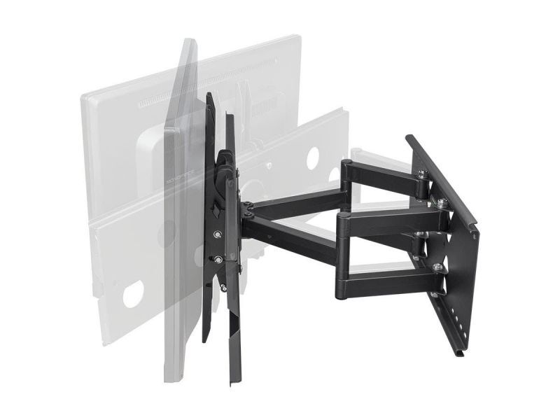 Monoprice Commercial Series Full-Motion Articulating Tv Wall Mount Bracket For Tvs 32In To 60In, Max Weight 175 Lbs, Extension Range Of 5.0In To 20.0In, Vesa Up To 750X450, Works With Concrete & Brick