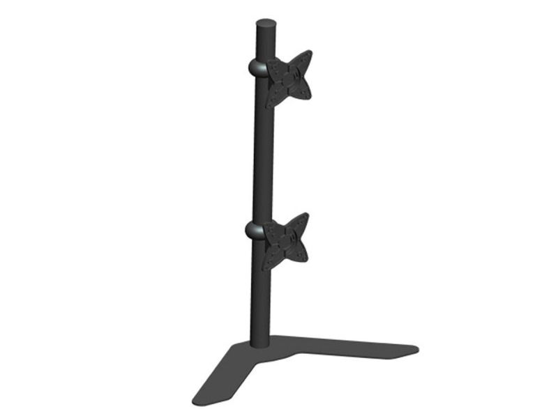Monoprice Adjustable Tilting Dual Desk Mount Bracket For 10~23In Monitors Up To 33 Lbs, Black
