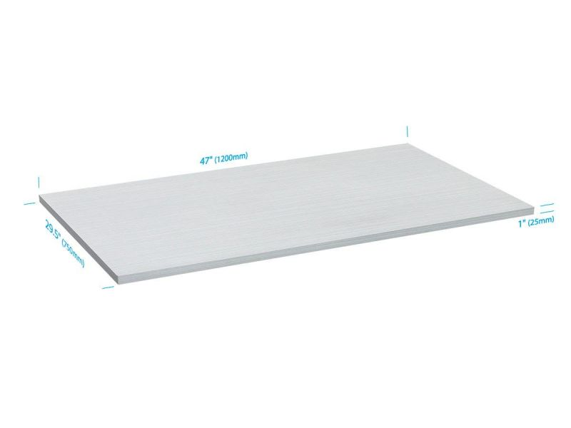 Workstream By Monoprice Table Top For Sit-stand Height Adjustable Desk, 4ft White