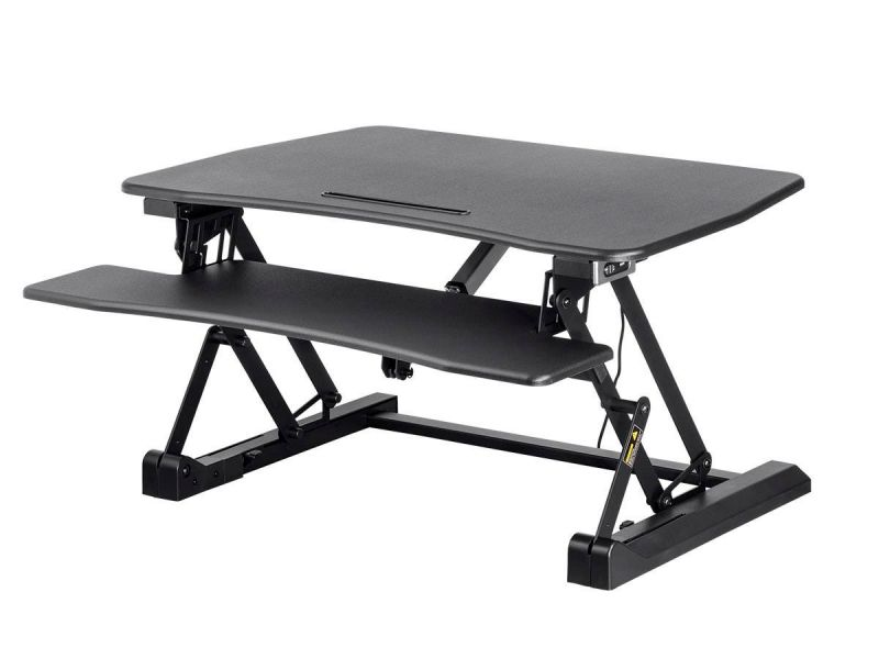 Workstream By Monoprice Electric Height Adjustable Sit-stand Workstation Desk Converter, 36in