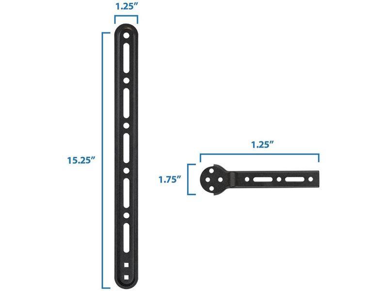 "Monoprice Universal Soundbar Bracket With Adjustable Arms Fits Displays 23"" To 75"", Soundbars Up To 33Lbs"