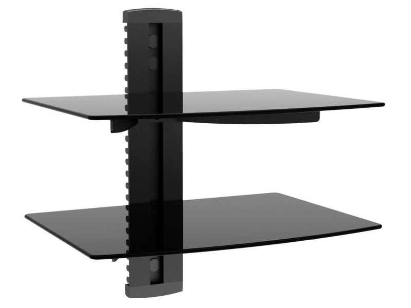 Mono Shelf Wall Mount Bracket For Tv Components With Weight Capacity 17.6 Lbs. Per Shelf