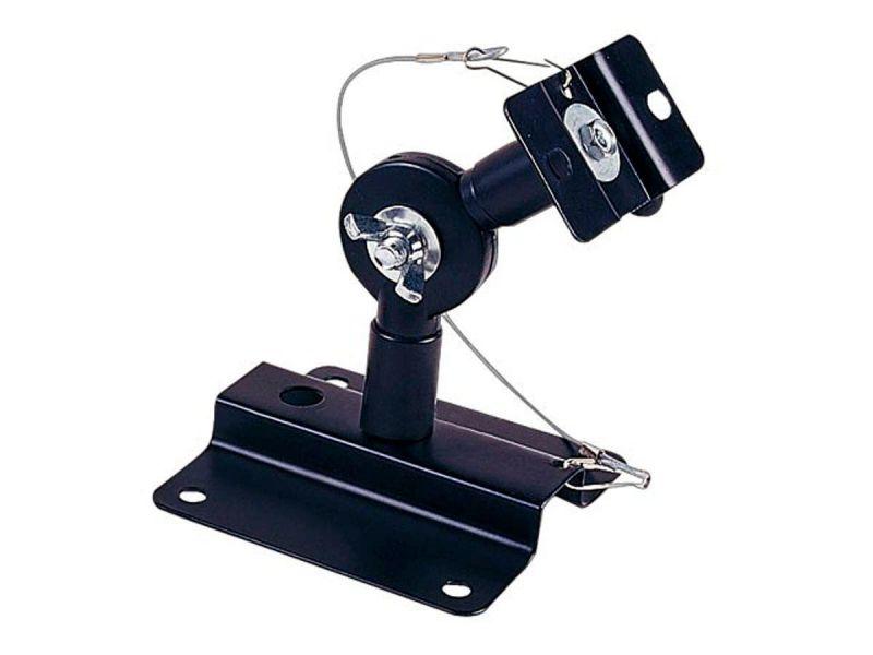 Monoprice Adjustable 33 Lb. Capacity Speaker Wall Mount Brackets (pair), Black