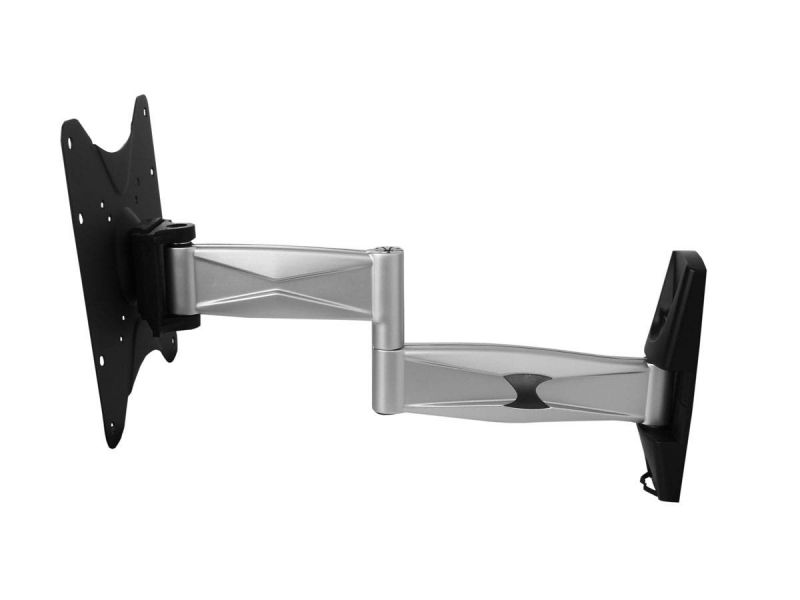 Monoprice Ez Series Full Motion Articulating Tv Wall Mount Bracket - For Led Tvs 23in To 42in, Max Weight 55 Lbs, Extension Range Of 2.2in To 17.3in, Vesa Up To 200x200, Rotating, Concrete And Brick