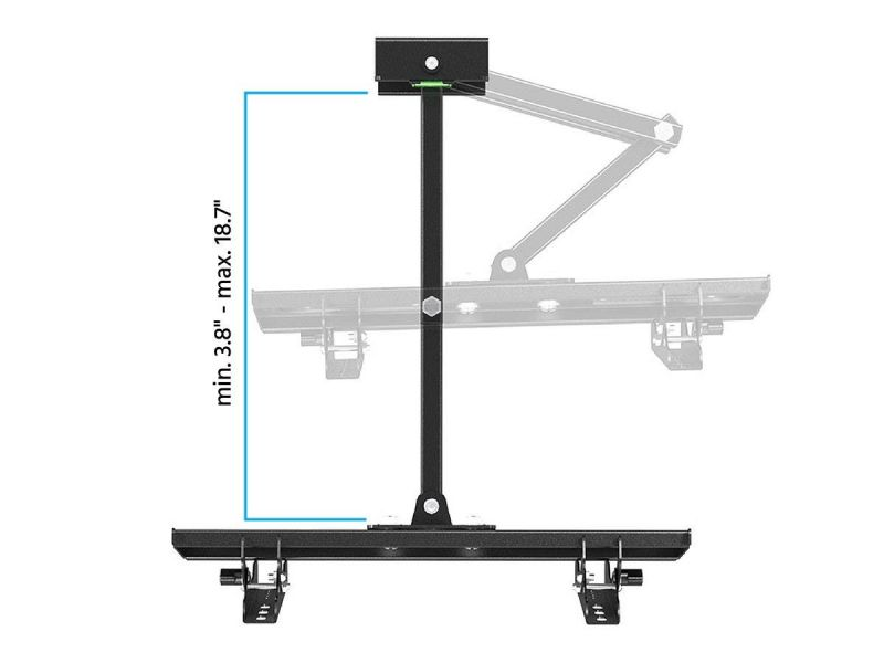 Monoprice Ez Series Full-Motion Articulating Tv Wall Mount Bracket For Tvs 32In To 55In, Max Weight 88 Lbs, Extension Range Of 3.7In To 20.1In, Vesa Patterns Up To 400X200, Works With Concrete & Brick