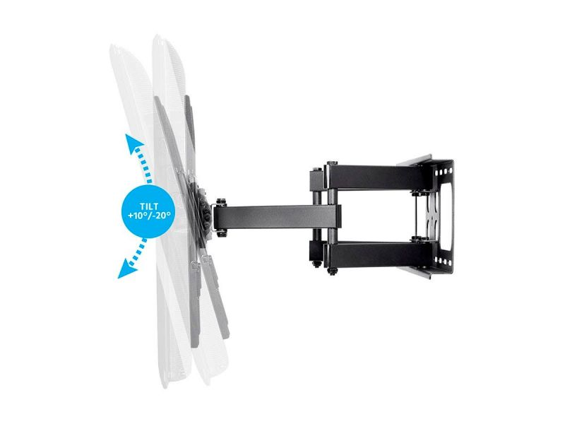 Monoprice Commercial Series Full-motion Articulating Tv Wall Mount Bracket For Tvs 32in To 55in, Max Weight 77lbs, Extension Range Of 2.5in To 20in, Vesa Patterns Up To 400x400, Rotating, Ul Certified