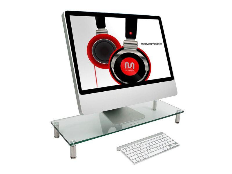 Workstream By Monoprice Multi Media Desktop Monitor Stand 27.5In X 9.5In