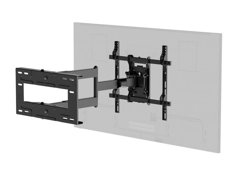 Monoprice Ez Series Portrait And Landscape 360 Full-motion Articulating Tv Wall Mount For Led Tvs 42in To 75in, Weight Capacity 110 Lbs., Extension 3.3in To 31.5in, Vesa Patterns Up To 400x400