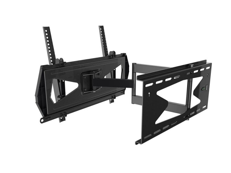 Monoprice Commercial Series Full-motion Tv Wall Mount Bracket Tvs 32in To 55in, Max Weight 88lbs, Extends 3.0in To 21.6in, Vesa Up To 400x400, Security Brackets, Concrete& Brick, Ul Certified, No Logo