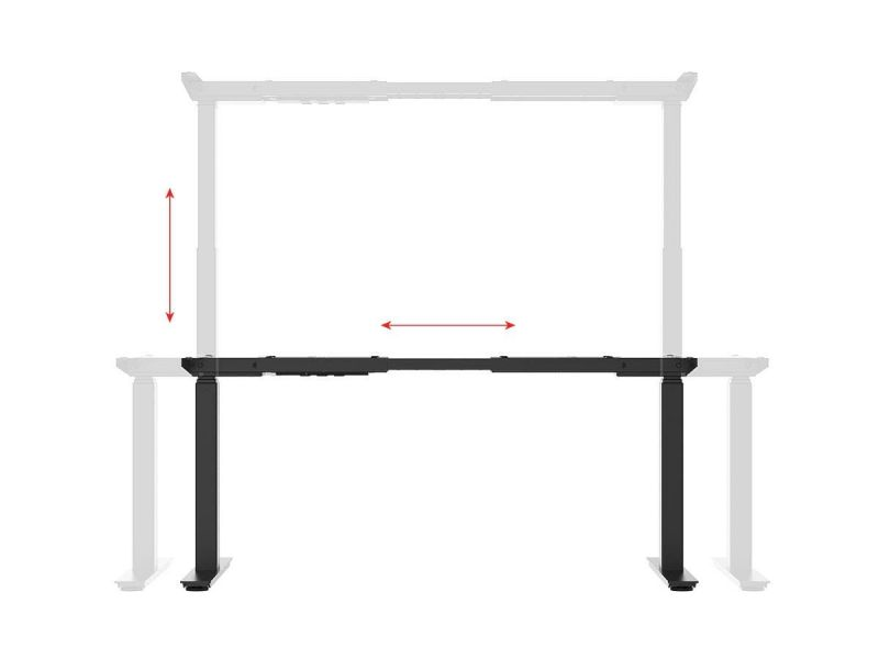 Workstream By Monoprice Dual Motor Easy Fold-out Assembly Sit-stand Desk Frame