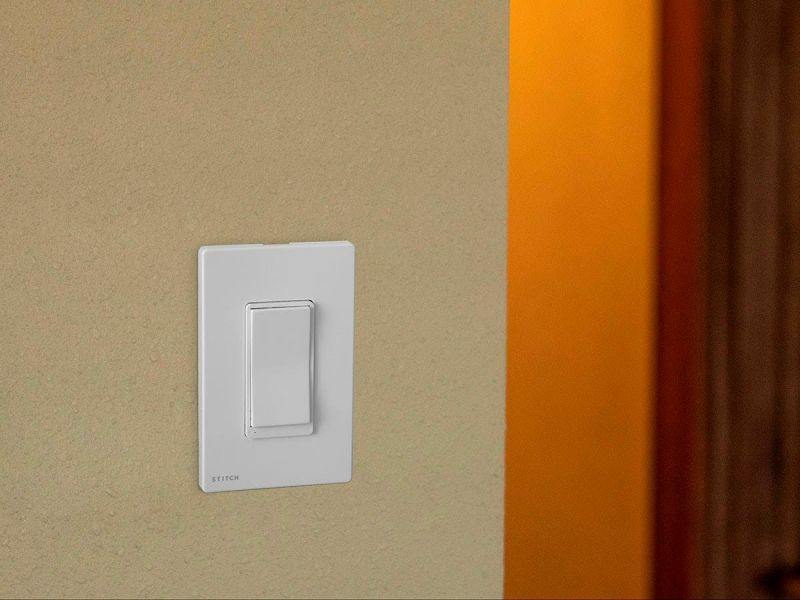 Stitch By Monoprice Smart In-wall On/off Light Switch, Works With Alexa And Google Home For Touchless Voice Control, No Hub Required