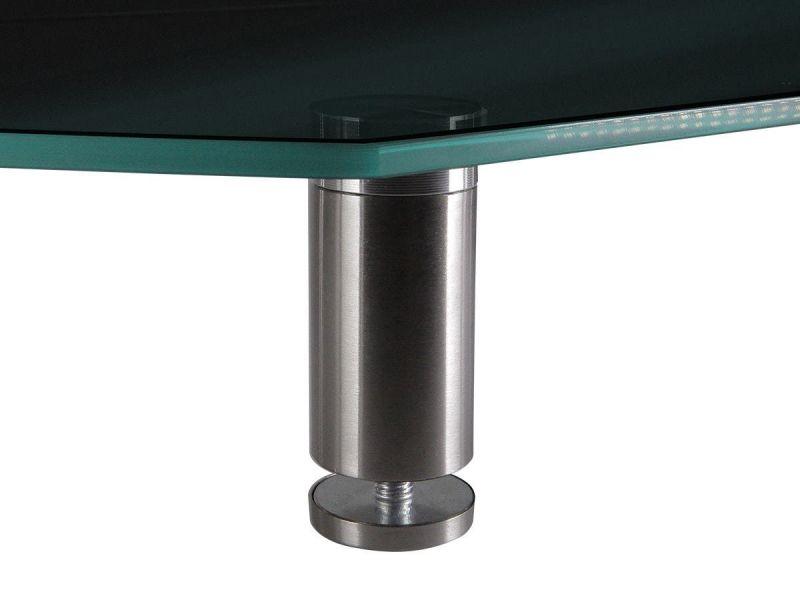 Workstream By Monoprice Large Multimedia Desktop Monitor Stand, Black Glass