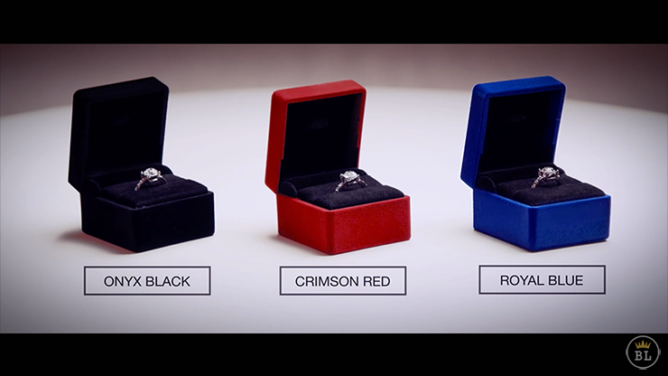 Vanishing Ring Box Black And Red Set (Gimmick And Online Instructions) By Sansminds - Trick