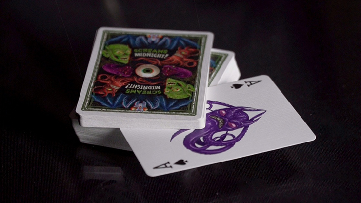 Screams At Midnight Playing Cards (3D-Glasses Included)