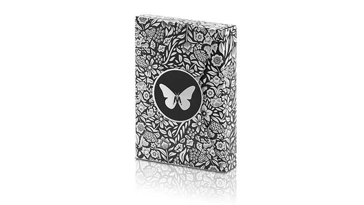 Limited Edition Butterfly Playing Cards Marked (black And Silver) By Ondrej Psenicka