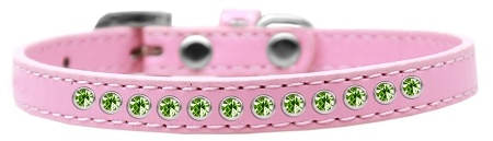 Lime Green Crystal Size 10 Light Pink Puppy Collar