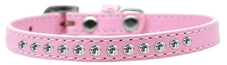 Clear Crystal Size 8 Light Pink Puppy Collar