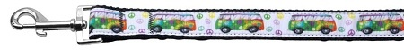 Peace Bus Ribbon Dog Collars 1 Wide 6ft Leash
